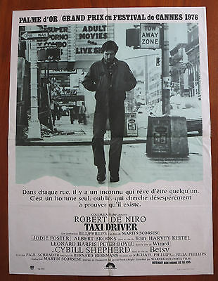 TAXI DRIVER (1976) Original French Movie Poster Robert De Niro Martin Scorsese