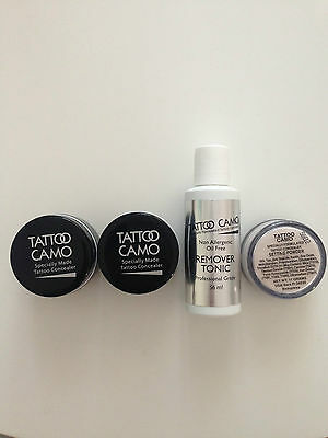 TATTOO CAMO complete coverage tattoo concealer coverup COMPLETE double kit
