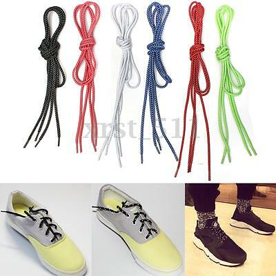 50'' Round Rope 3M Reflective Shoelaces Shoe Laces Sport Running Shoestrings