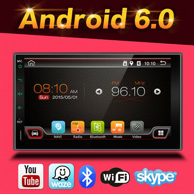 """Android6.0 2G RAM HD 7""""Touch Screen Double 2DIN Car GPS Stereo Bluetooth+CAM+USB"""