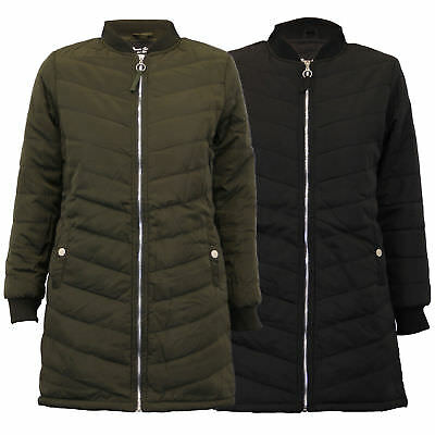 b11d41b39 LADIES JACKETS BRAVE Soul womens long coat MA1 harrington padded quilted  winter