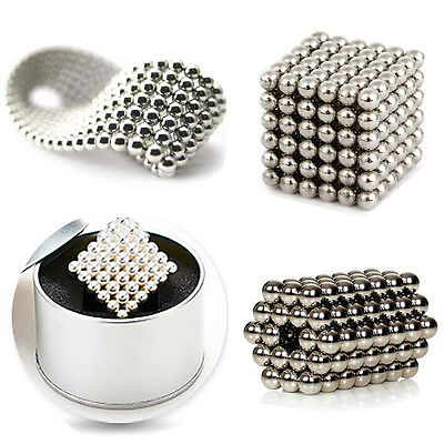 5MM DIY Magnetic Beads Magic Balls Cube Puzzle Spheres Puzzle Set 216 Pcs Silver