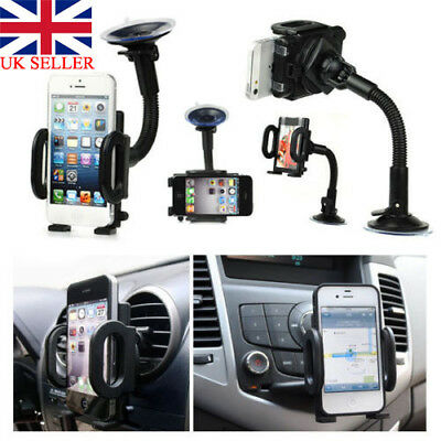 Universal In-Car Mobile Phone Sat Nav Pda Gps Holder With Locking Suction Mount