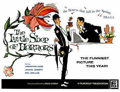 Little Shop of Horrors poster movie postcard Corman Halloween