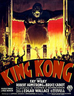 King Kong RKO Fay Wray film poster movie postcard