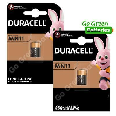 2 x Duracell MN11 6V Alkaline Battery - 11A A11 GP11A L1016 CX21A E11A Security