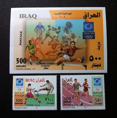 IRAQ 2006 Olympics Athen Set of a M/S and Two Stamps, MNH. Free Shipping to UK!!