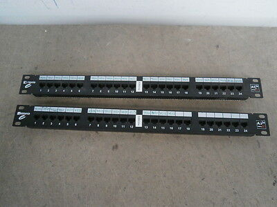 "2 x Assynia AS5E-PP24 1U 24 Port 19"" Cat5e RJ45 Data Network Patch Panel inc.VAT"