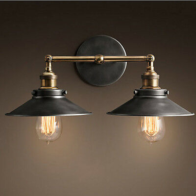 Vintage Industrial Wall Fixtures Double Retro Wall Lamp Sconce Wall Light 7009HC