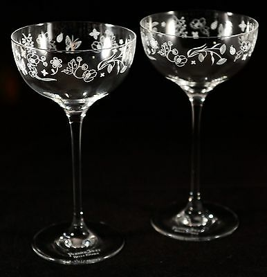 Perrier Jouet Champagne Flutes Saucer Type X 2 Rare New