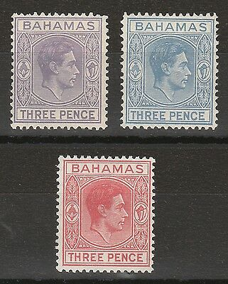 Bahamas 1938 Kgvi 3D - 3 Colours