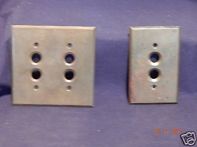Antique Vintage Brass Electrical Light Switch Plate Covers(2) Home Restoration