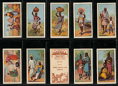 "C.w.s. 1936 Interesting ( African Native ) Full 24 Card Set """" African Types """""
