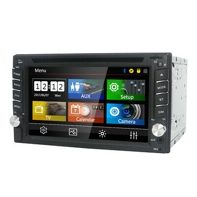 "Free Cam+GPS Card 6.2"" Double 2DIN Car Radio Stereo DVD Player  GPS Navigation"