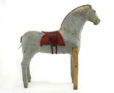 An original Swedish late 19th - early 20th century folk art wooden horse. Grey