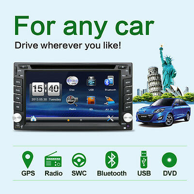 Free Map 6.2in 2 Din Universal Car Audio DVD GPS Navi Player Wince6.0 Cars Radio