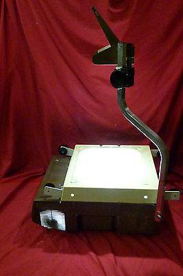 Elmo  Hp-L355  Overhead Projector  With Two  New 360 Or 410  Watt Bulbs