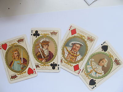 Antique Victorian Playing Cards , C 1901 Gilt Borders, Historical, Collectable