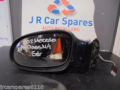 1997 - 2004 Mercedes A Class W168 N/s Passenger Side Electric Wing Mirror Blue