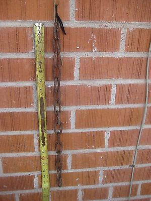 "Vintage "" Straight Link Chain"" 20 Inches Rusted Country Farm Garden Art Decor"