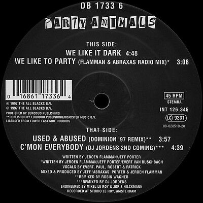 Party Animals - Used & Abused (Mokum Records) - Vinile