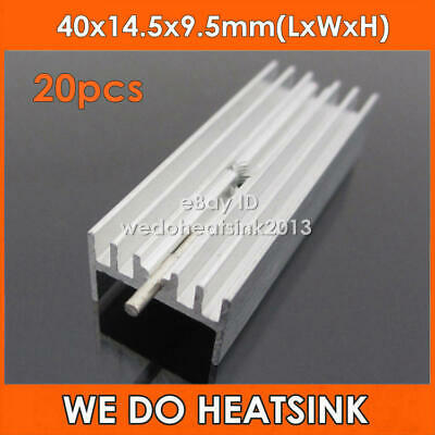 20pcs 40x14.5x9.5mm Aluminum Heatsink Cooler Radiator For MOSFET TO-220/ TO220