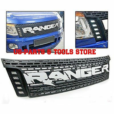 Ford Ranger Kühlergrill Tuning Grill LED 12 - 14 Raptor Frontgrill 2012 2014 wht