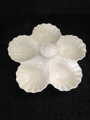 GORGEOUS c1950's CREAM SPODE VELAMOUR OYSTER SHELL SERVING DISH EX CONDITION