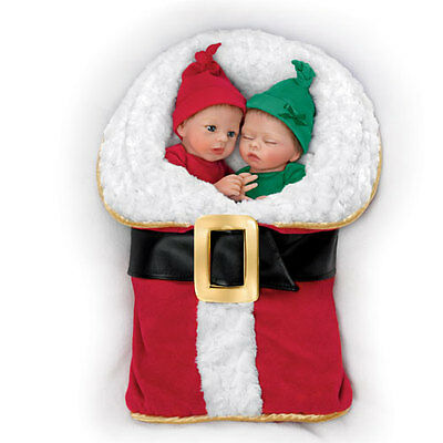 Ashton Drake - Christmas Twin Baby Doll Set By Donna Lee - NICK AND NOELLE