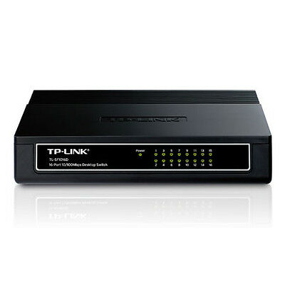 NEW TP-LINK TL-SF1016D 10/100Mbps 16 PORT DESKTOP NETWORK ETHERNET LAN SWITCH