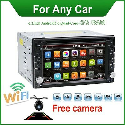 Android 6.0 Mirror Link Car DVD Player Radio GPS BT USB Stereo With GPS Card Cam