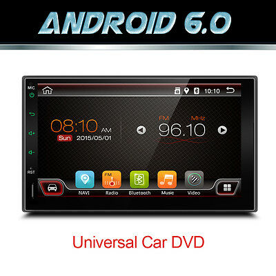 Android 6.0In Dash GPS WIFI 7'' 2Din Car radio Player Radio Bluetooth Stereo Cam