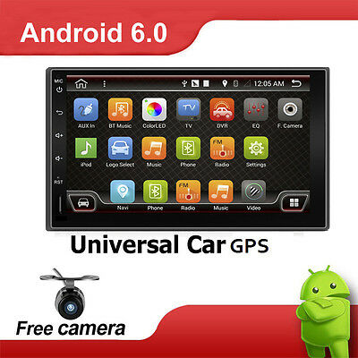 "Double 2 Din 7"" Car Stereo Head Unit Radio DVD Player GPS Bluetooth USB+AU MAPS"