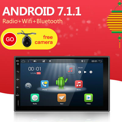 """7""""Android 6.0 Double 2din Car stereo Quad Core GPS Navi BT Bluetooth Mirror Link"""