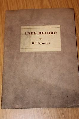 Cape Record by H E Symons - Through Africa in a Wolseley Original Brochure