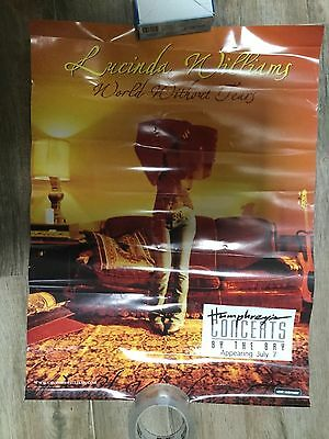 LUCINDA WILLIAMS WORLD WITHOUT TEARS TOUR POSTER HUMPHREY'S SAN DIEGO 18 x 24