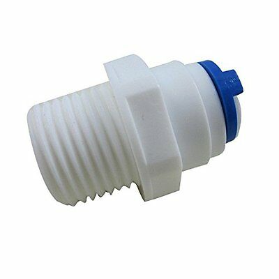 """3/8"""" Push Fit 1/4"""" Thread Male Quick Connector Water Reverse Osmosis PACK of 5"""