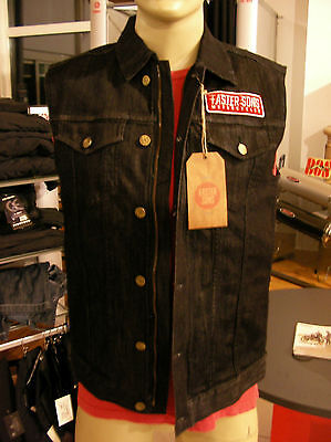 Original YAMAHA Faster Sons Jeans Weste Baumwolle Elasthan Made in Italy NEU