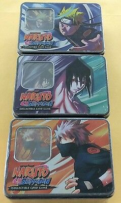 Naruto Shippuden CCG Factory Sealed Tins Set Of 3 Series 9