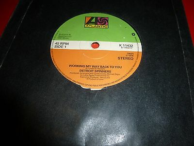 """Detroit Spinners * 7"""" Vinyl* Working My Way Back To You * 1979 * K11432"""