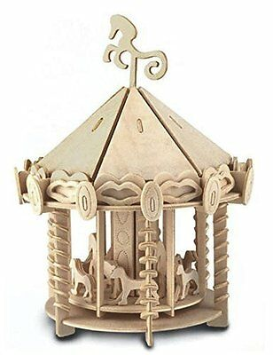 Carousel: Woodcraft Quay Construction Wooden Merry Go Round 3D Model Kit P082