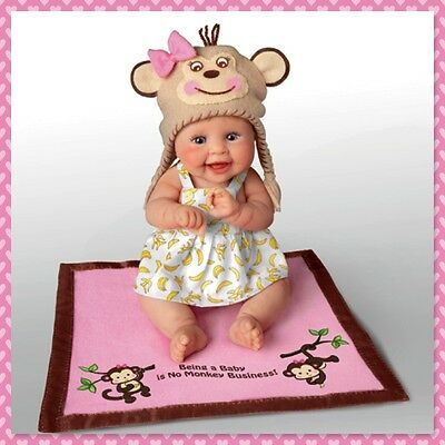 Ashton Drake MONKEY BUSINESS Baby Doll by Sherry Rawn