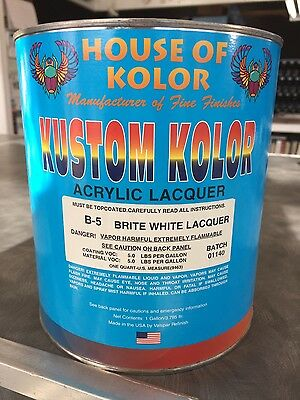 House of Kolor lacquer kandy paint.
