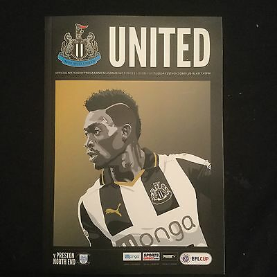 Newcastle United V P N E 25/10/16 EPL CUP And Free Poster.