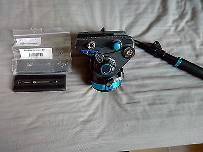 Benro S8 Video Tripod Head with Quick Release & EXTRA QR PLATE