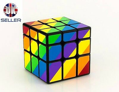 *Brand New Boxed* Unequal Magic Rubik's Cube Rubix Toys Puzzle Game Rubiks Toy