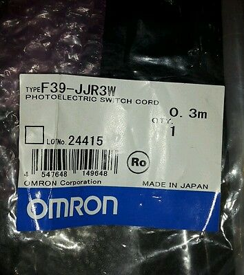 Omron F39-Jjr3W Photoelectric Switch Cord 0.3M