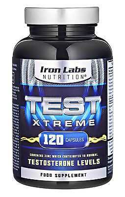 Test Xtreme: Testosterone Booster - Muscle Growth Strength (120 Capsules)