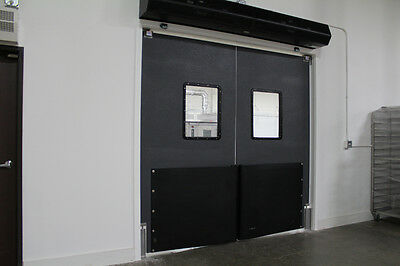 "Warehouse Traffic Doors  Impact Doors 84""x84"" (Double Panel) Supermarket Doors"