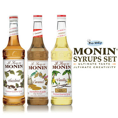 MONIN Coffee Syrups -USED BY COSTA COFFEE - 1L Classic Favourites Trio Gift Set